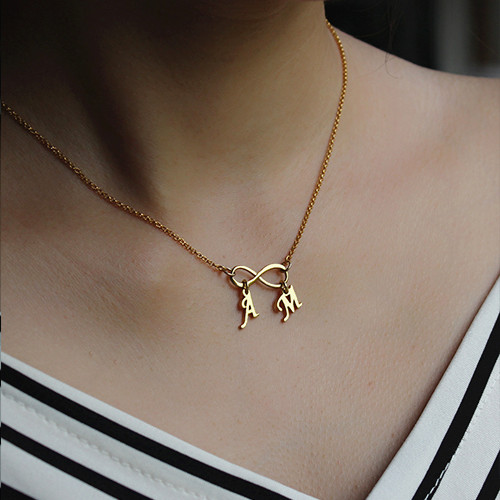 Infini Collier Double Initiales